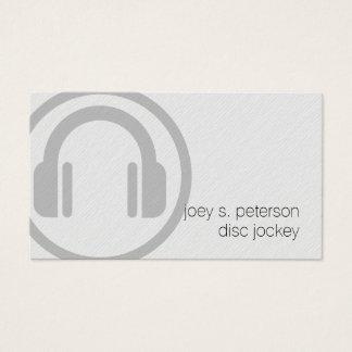 Disc Jockey Bold Deejay Turntable Icon Music Business Card