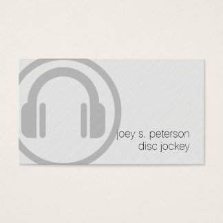 Disc Jockey Bold Deejay Turntable Icon Music Business Card