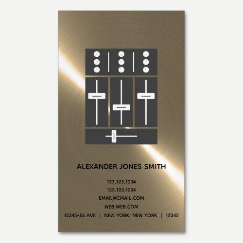 Disc Jockey Business Card Magnet