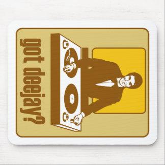 DISC JOCKEY CONSEGUIDO DJ RETRO TAPETE DE RATONES