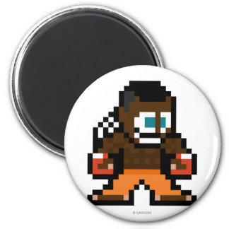 disc jockey de 8 bits imán redondo 5 cm