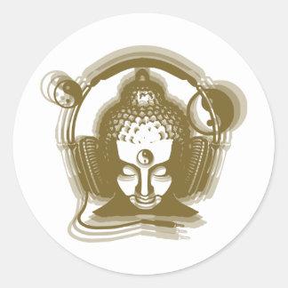 Disc jockey de Buda Pegatina Redonda