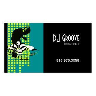 Disc jockey de DJ Mixmaster - tarjeta de la indust Tarjetas De Visita