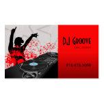 Disc jockey del disc jockey de Hip Hop - tarjeta d Plantilla De Tarjeta De Negocio
