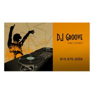 Disc jockey del disc jockey de Hip Hop - tarjeta d Tarjetas De Visita