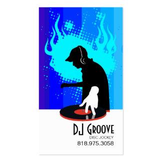 Disc jockey del surco del disc jockey - tarjeta de tarjetas de visita