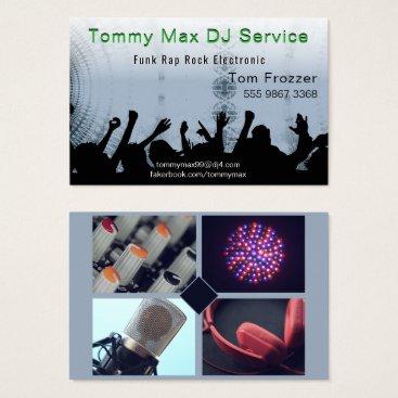 Professional Business Disc Jockey DJ Dance Music Photo Template Business Card
