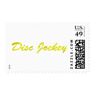 Disc Jockey - DJ Gold Fancy DJing Turntable Postage