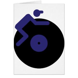 disc jockey dj music clubbing greeting card