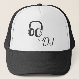 disc jockey, DJ with headphones hat