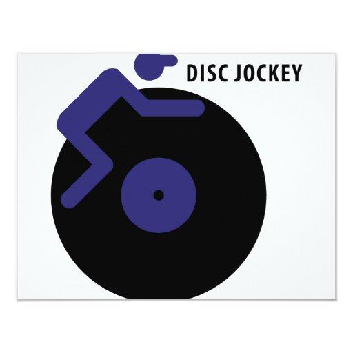 disc jockey icon card
