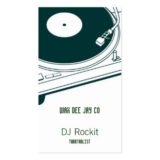 Disc Jockey Turntable Business Cards