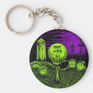 Disc Or Die - Disc Golf Design Basic Round Button Keychain