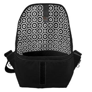 Disc Patterned Messenger Bag