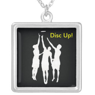 Disc Up! Square Pendant Necklace