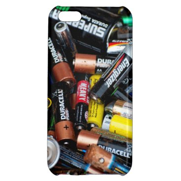 Discarded batteries case for iPhone 5C