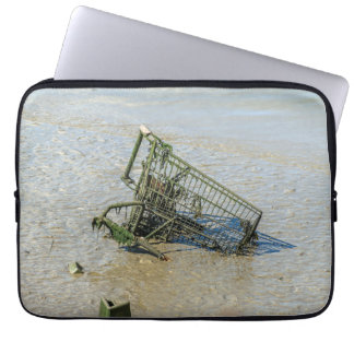 Discarded shopping trolley laptop sleeve