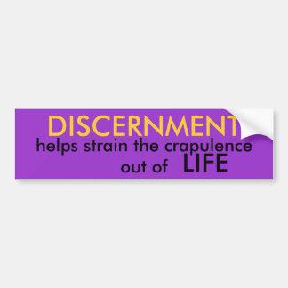 Discernimiento Pegatina Para Auto