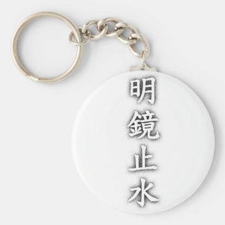Discernment mirror dead water key chain