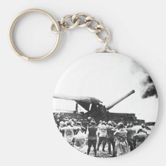 Discharge of a huge French cannon Keychain