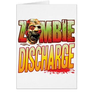 Discharge Zombie Head Greeting Card