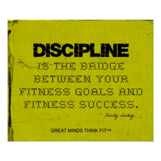 Disciplina amarilla de la aptitud del hilo del neg póster