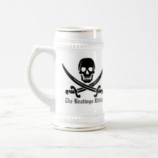 Disciplina del pirata jarra de cerveza