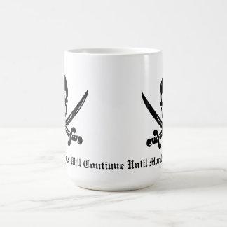 Disciplina del pirata taza de café
