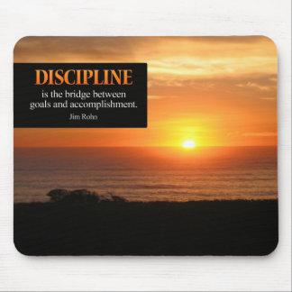 Disciplina Mousepad de motivación Tapete De Raton