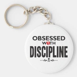 Disciplina obsesionada llavero redondo tipo pin