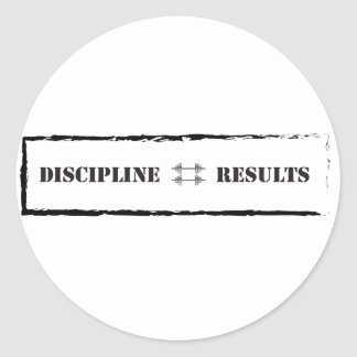 Disciplina = resultados pegatina redonda