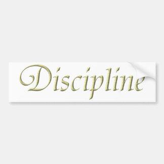 Discipline Bumper Stickers