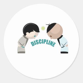 Discipline Classic Round Sticker