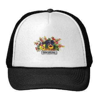 discipline flowers tag trucker hat