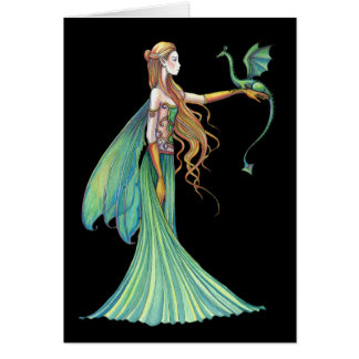 Discipline Green Fairy Dragon by Molly Harrison Cards