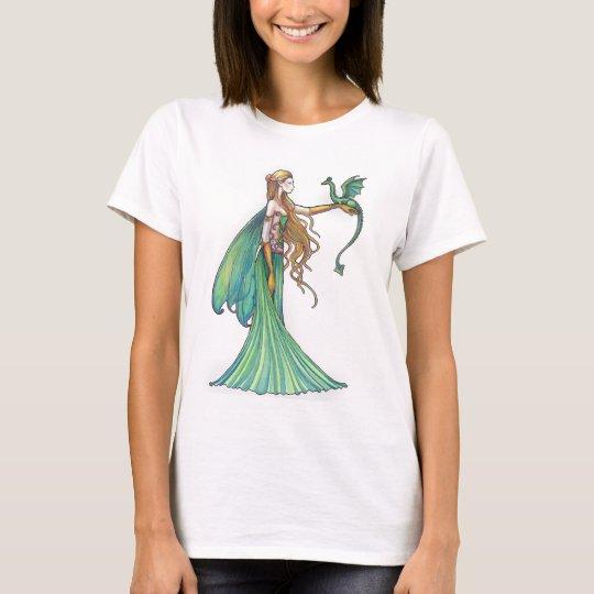 Discipline Green Fairy Dragon by Molly Harrison T-Shirt
