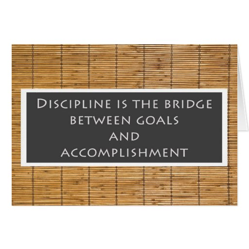 Discipline Greeting Card