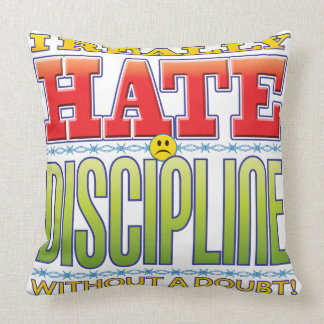Discipline Hate Face Throw Pillow