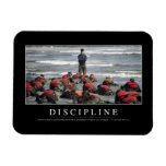 Discipline: Inspirational Quote Flexible Magnets