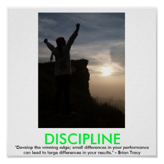 DISCIPLINE motivational poster