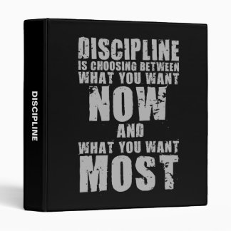 DISCIPLINE - Motivational Words 3 Ring Binder