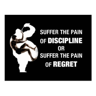 Discipline Or Regret Postcard