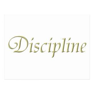 Discipline Postcard
