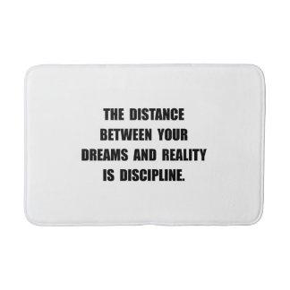 Discipline Quote Bath Mat