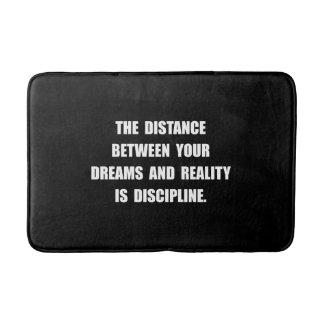 Discipline Quote Bathroom Mat