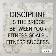 Superbe Discipline Quotes Posters | Zazzle