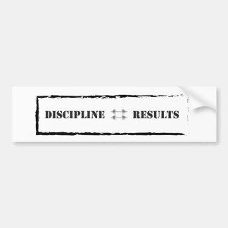 Discipline = Results Bumper Stickers