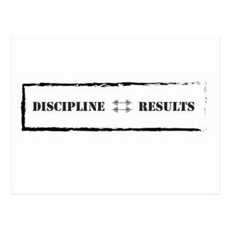 Discipline = Results Postcard
