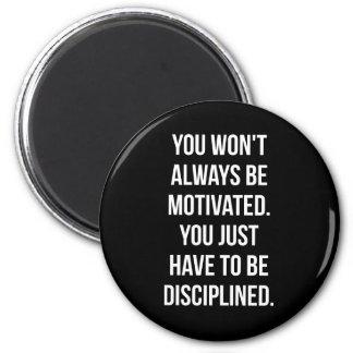 Discipline vs Motivation - Inspirational Workout Magnet