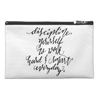 Discipline Yourself to Work Travel Accessories Bag